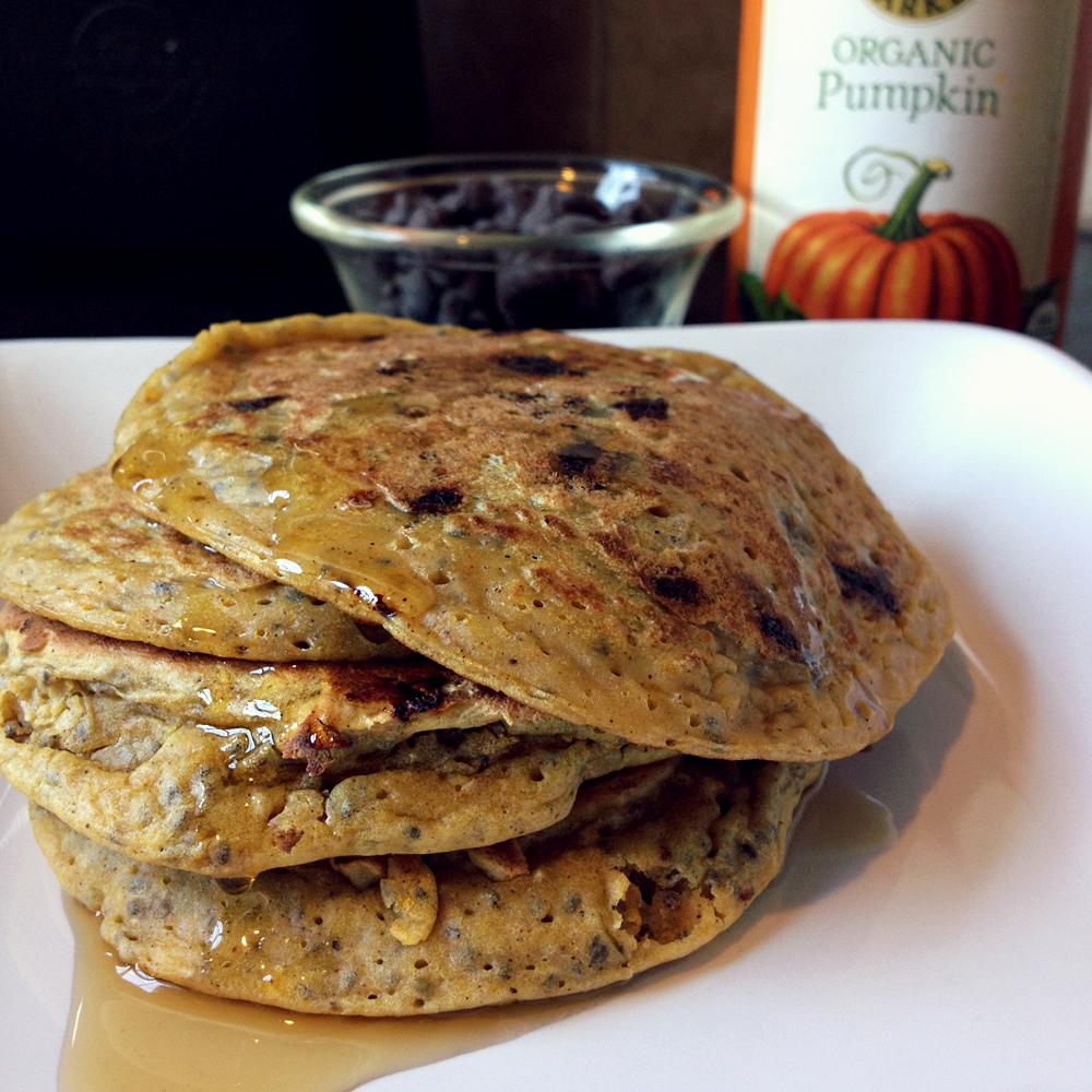 chocolate chunk pancakes recipes dishmaps pumpkin chocolate chunk ...